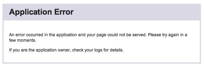 Application Error