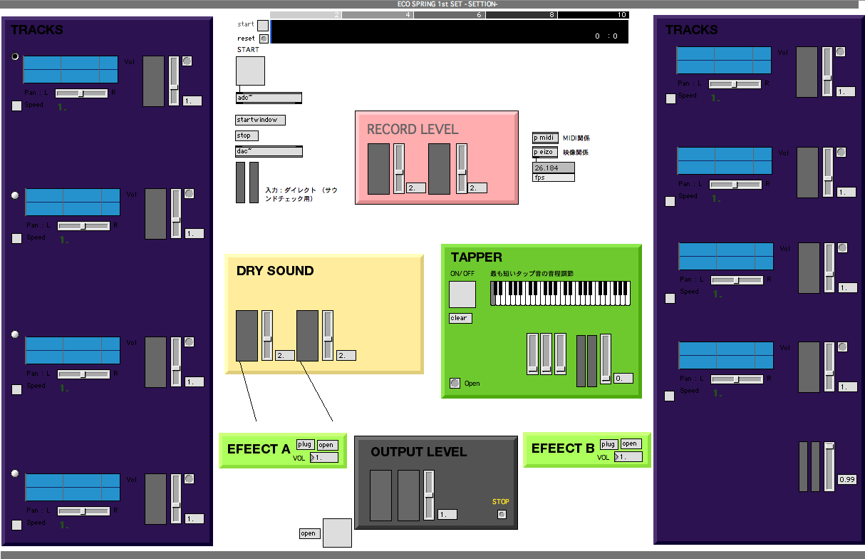 karappo live system of max/msp/jitter