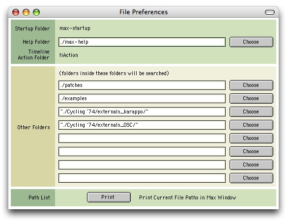 Max/MSP FilePreferences