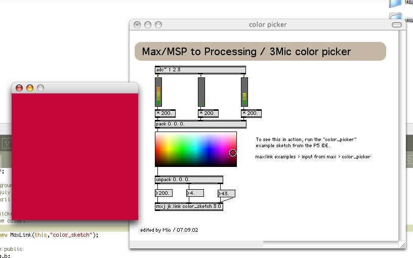 max/msp to processing